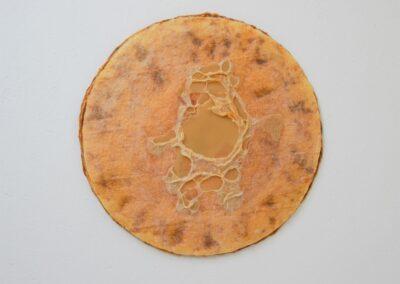 Latex m opløst tyndt pladevat og bivoks i midten